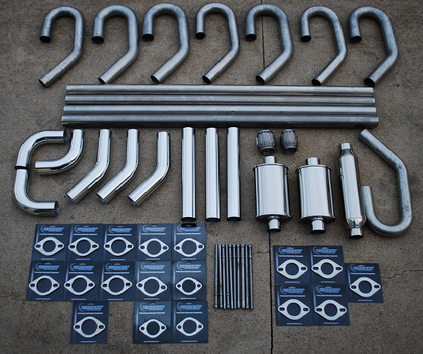 Vibrant Universal Stainless Steel piping, mufflers, U bends, flanges