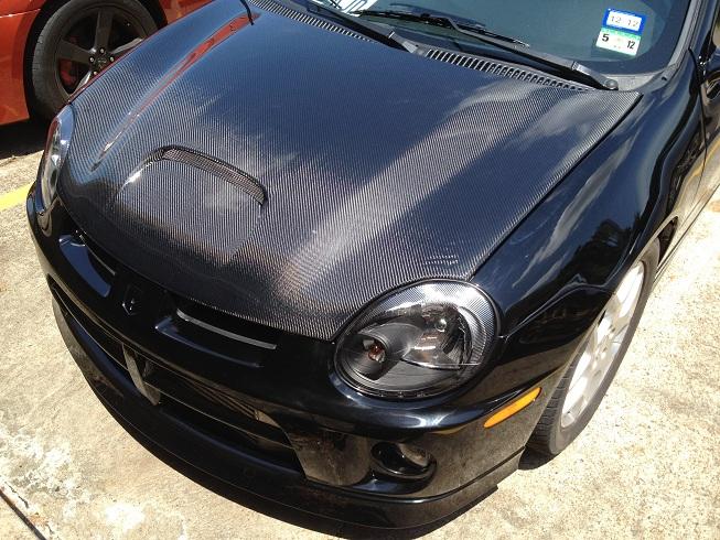 Will Rios's black Neon SRT4 new paint job