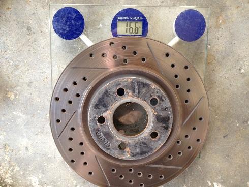 Neon SRT4 oem rotor weight