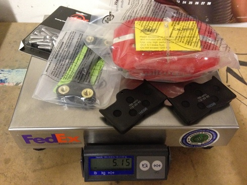 Wilwood Caliper, hardware and brake pads for Neon SRT4 weight