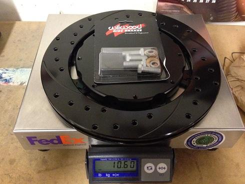 Neon SRT4 Wilwood rotors weight