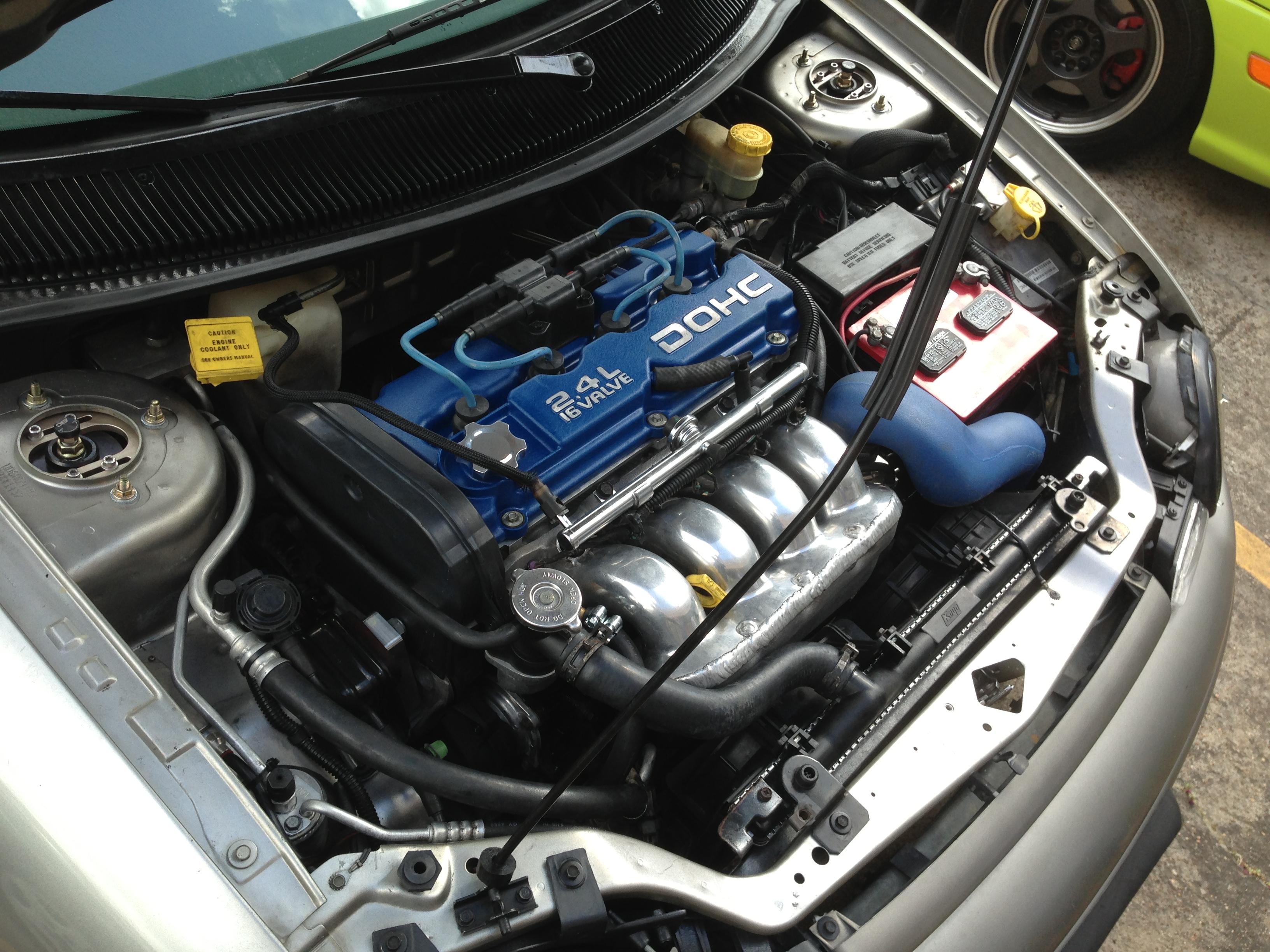 Sgt Alex Lopez's 2.4 swapped Platinum coupe Neon ACR
