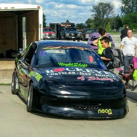 Asphalt oval track Dodge Neon racer - Roger